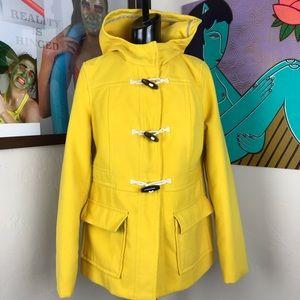 Old Navy Big Yellow Bus Hooded Toggle Coat Jacket